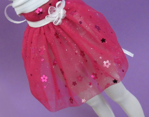 BJD Clothing Pink Tulle Skirt