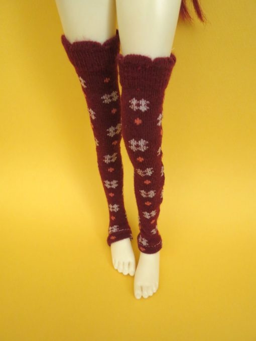 Deep Red Thigh High BJD Clothing