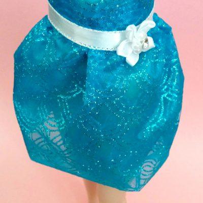 Blue Fishscale Glitter Skirt