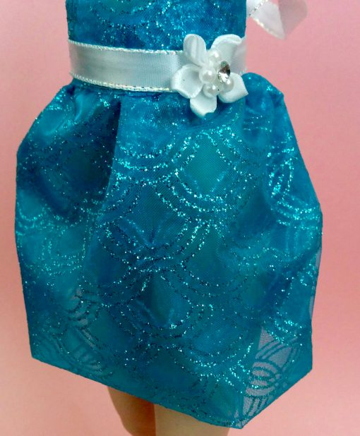 Blue Fishscale Glitter Skirt