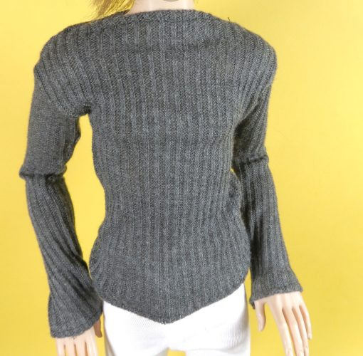 Charcoal Gray Sweater for Ball Jointed Doll