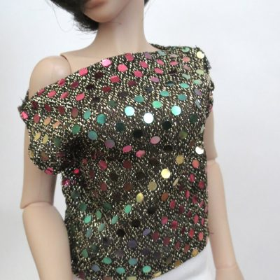 Metallic Rainbow Dot Shirt for BJD